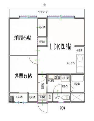 賃貸マンション 2LDK 松山市生石町